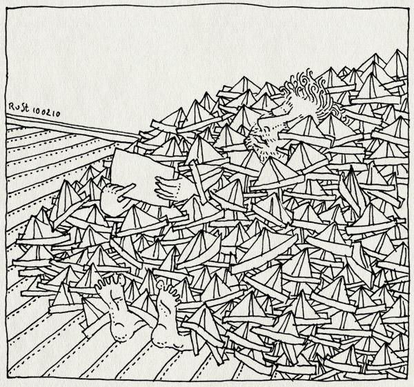 tekening 1000, 1000, berg, dagen, feest, hoedje, monnikenwerk, mountain, much, origami, papier, tekening1000, veel, vouwen
