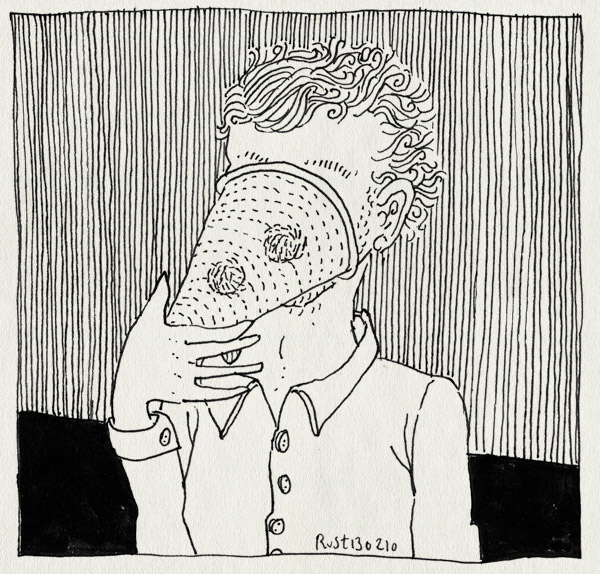 tekening 1003, bumba, bumbahoed, clown, face, gezicht, hat, hide, snuit, verbergen