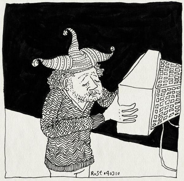 tekening 1022, #widm, arjen, eruit, game, inzetten, joker, sad, televisie, television, treurig, tv, wie is de mol