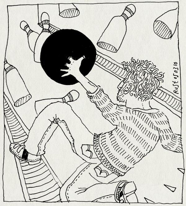tekening 1023, amateur, bal, ball, bowlen, bowling, bowlingbaan, getekend, live, pins, ustream, vrienden