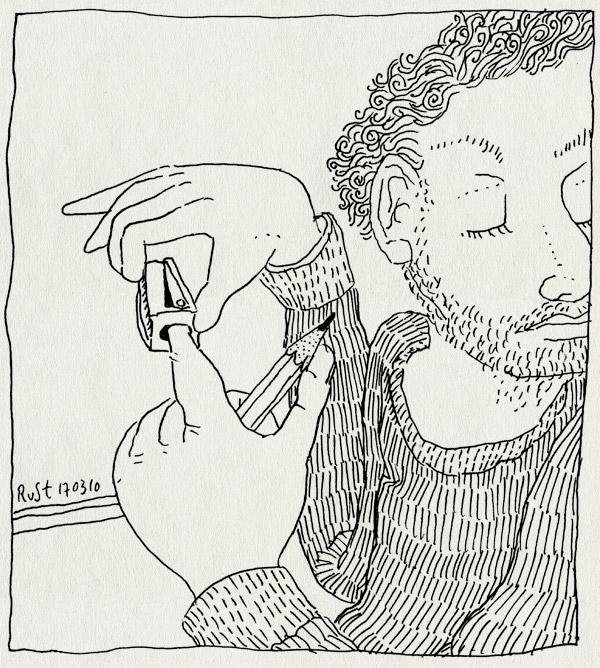 tekening 1035, afgeleid, dom, finger, puntenslijper, stom, stupid, vinger