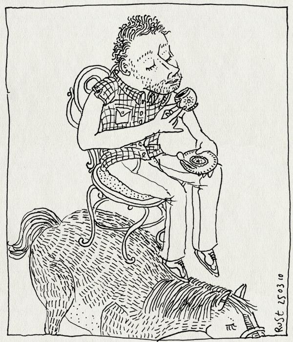 tekening 1043, amsterdam, chocomel, hollandsche, manege, overtoon, paard, puur, stoel. hollandse manege, thee, vondelstraat