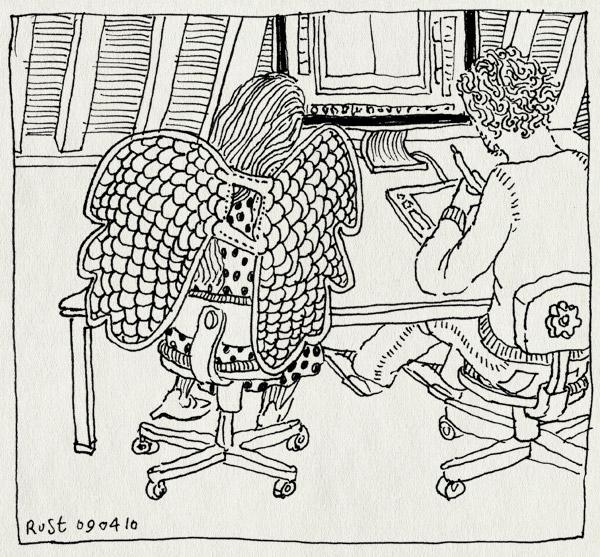 tekening 1058, burorust, cooperation, engelenvleugels, holanda ficomics, maaike hartjes, nh49, werk