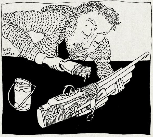 tekening 1061, geweer, gun, maken, paint, rifle, schilderen
