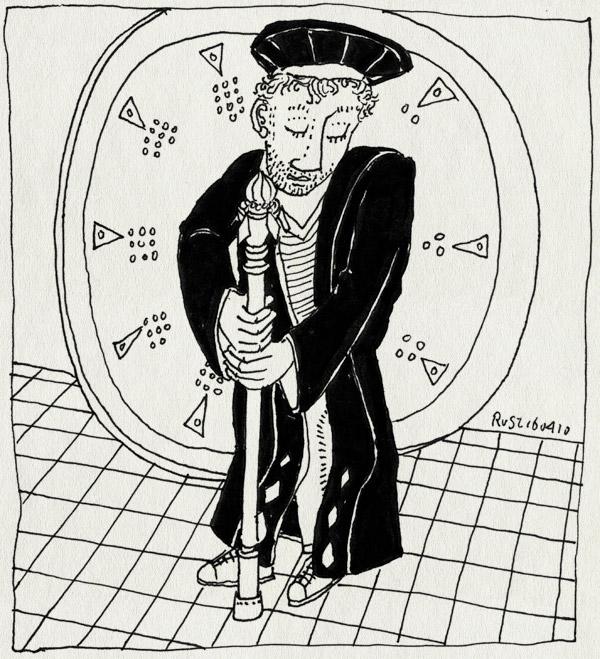 tekening 1065, fons, habijt, hora est, ora est, promovatie