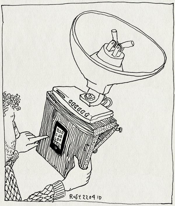 tekening 1071, internet, iphone, ontvanger, reciever, signaal, slecht, tmobile, wifi