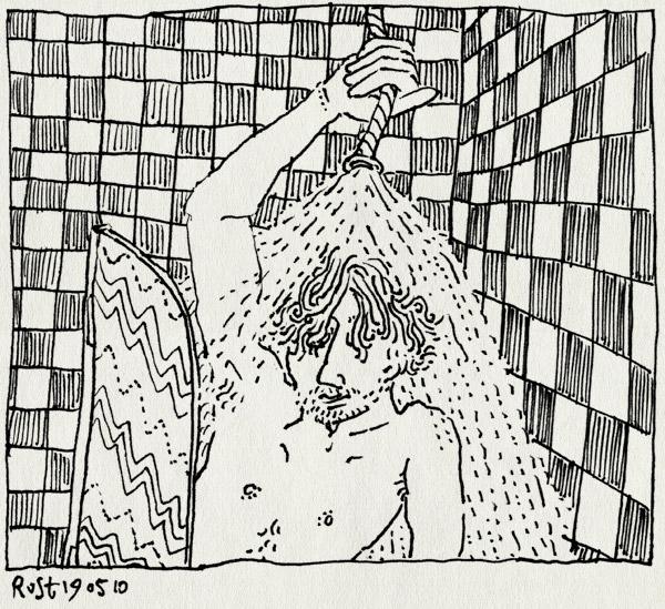 tekening 1098, douche, hose, shower, slang, stuk