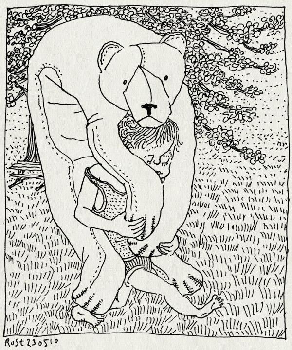 tekening 1102, appelboom, apple tree, bloesem, blossom, gras, grass, groningen, ijsbeer, midas, polar bear, spring, westeremden