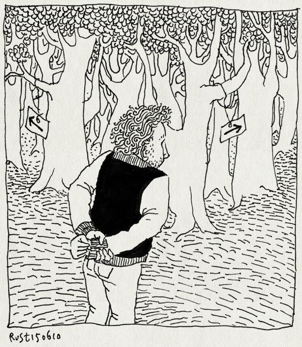 tekening 1125, arrows, bos, keuze, pijlen, speurtocht, splitsing, weg, woods