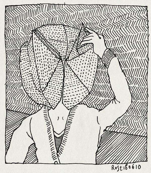 tekening 1128, balie, ballonnetje, folding, hoofd, nh49, origami, vouwen
