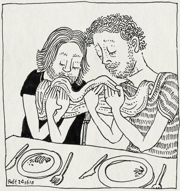 tekening 1134, chinees, delen, een, fun, gijs, jodenbreestraat, nam tin, samen, servet