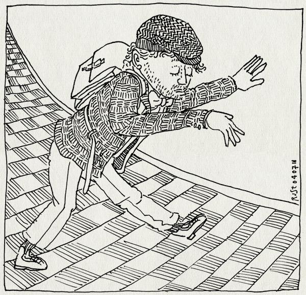 tekening 1144, boek, kees de jongen, mooi is dat!, theo thijssen, zwembadpas