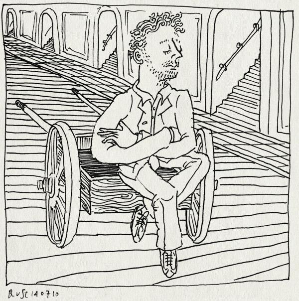 tekening 1154, amsterdam, dromen, kar, kees de jongen, verstripping, wachten, zitten