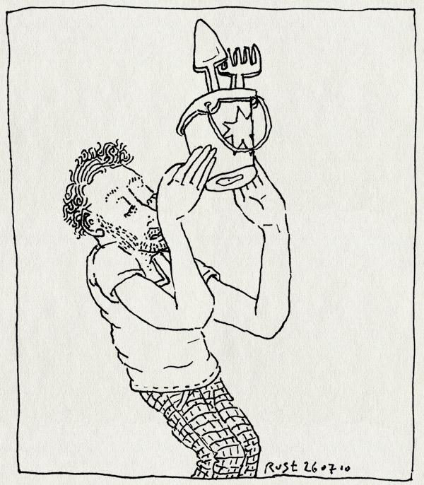 tekening 1166, award, beach, emmertje, prijs, prize, schepje, strand, win, winst, wizard