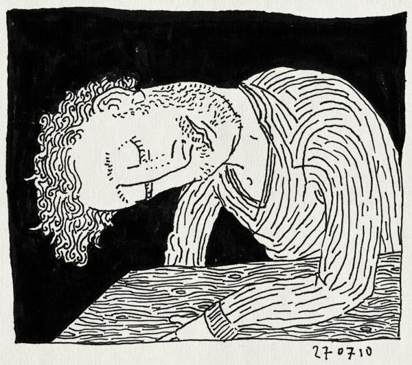 tekening 1167, alwine, art, looking, sideways, uiltjekijken