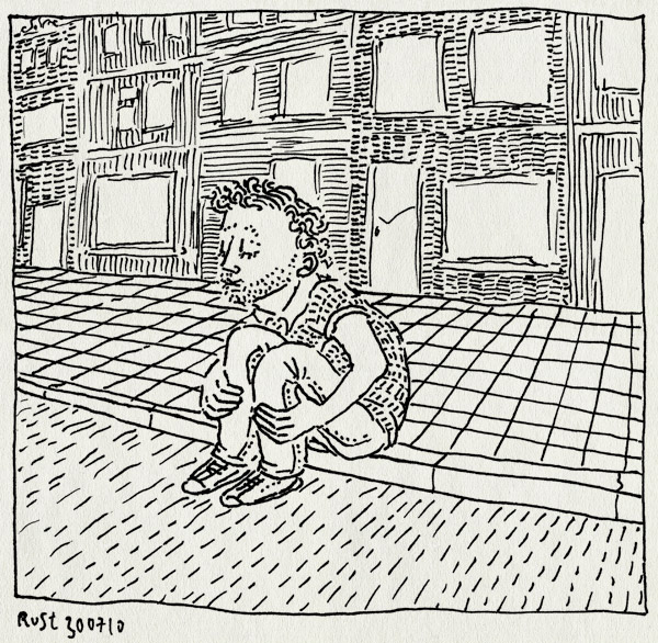 tekening 1170, amsterdam, gracht, grachtenpanden, kees de jongen, stoep, stoeprand, straat, zotten