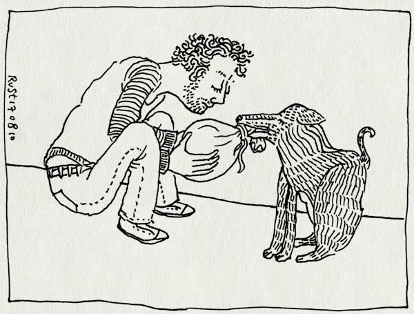 tekening 1188, geld, hond, jeugdcultuurfonds, zak
