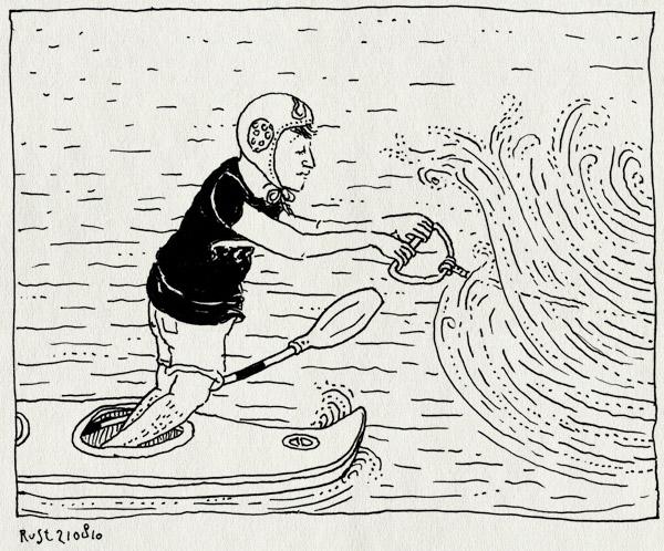 tekening 1192, bob, canoe, kano, marcel, speedboot, vrijgezellendag, waterpolomuts, waterski