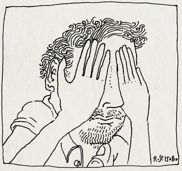 tekening 1196, horen, zien, zwijgen