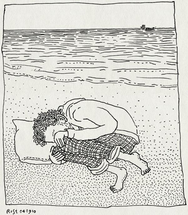 tekening 1206, bakkum aan zee, bakkum beach, castricum aan zee, horizon, noordzee, sea, slapen, sleep, zee