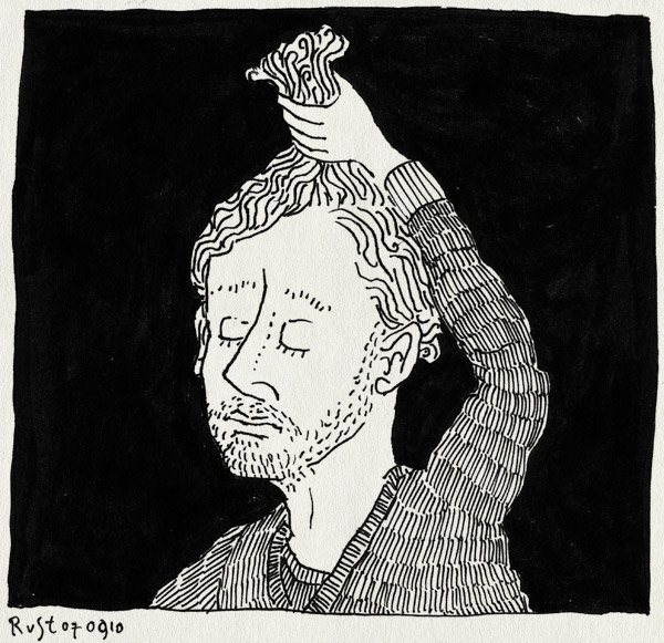 tekening 1209, affiche, bellevue, hair, haren, pull, trekken