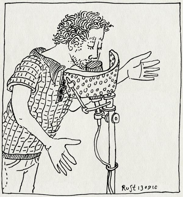 tekening 1215, inspreken, jcf, lelijk, microfoon