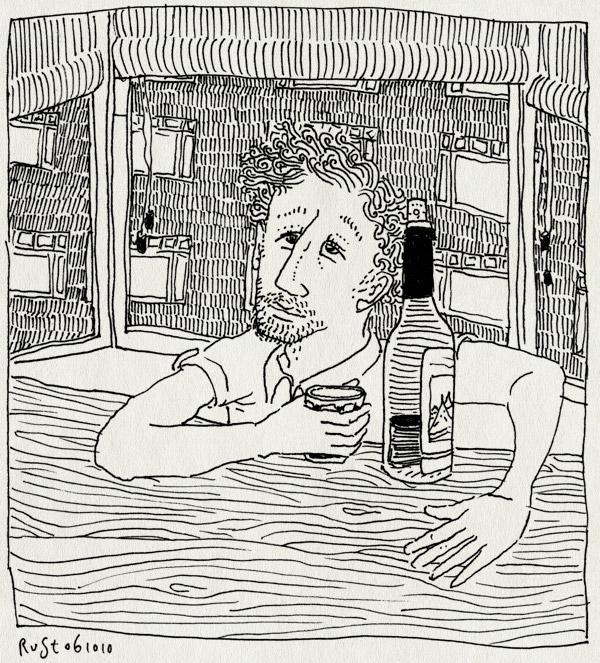 tekening 1238, amsterdam, souvenir, spaans, vakantie, wijn. rood