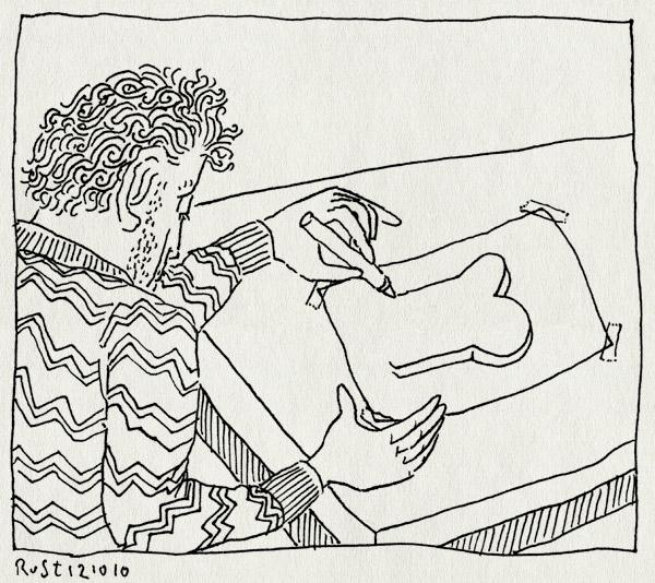 tekening 1244, bezuinigingen, brood, cartoon, cultuur, cultuurbeleid, cultuursector, gado, politiek, rutte, vvd, workshop