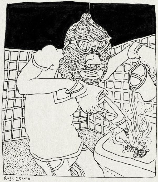 tekening 1257, bivakmuts, chemisch, gloves, gootsteen, gootsteenontstopper, handschoenen, onstoppen, wastafel