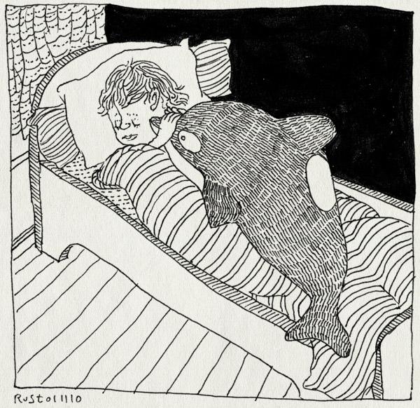 tekening 1264, bed, killer whale, midas, orka, plusje, slapen, sleep