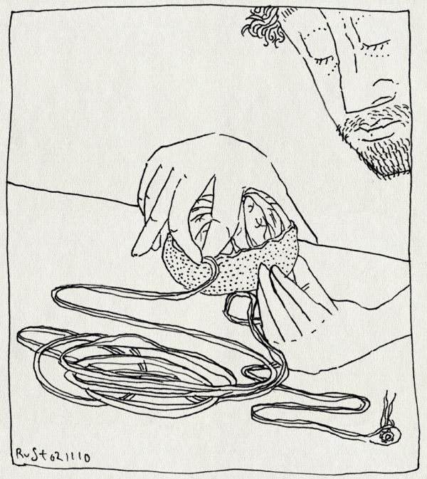 tekening 1265, mandarijn, schil, schillen