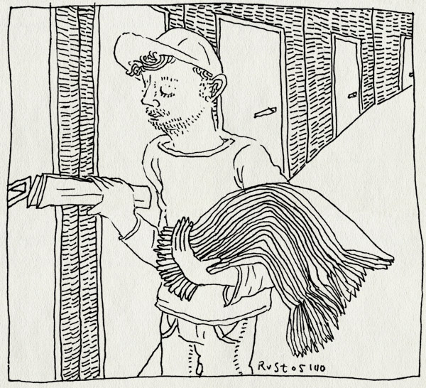 tekening 1268, bezorger, gaaf, krant, next, nrc, pers, volkskrant