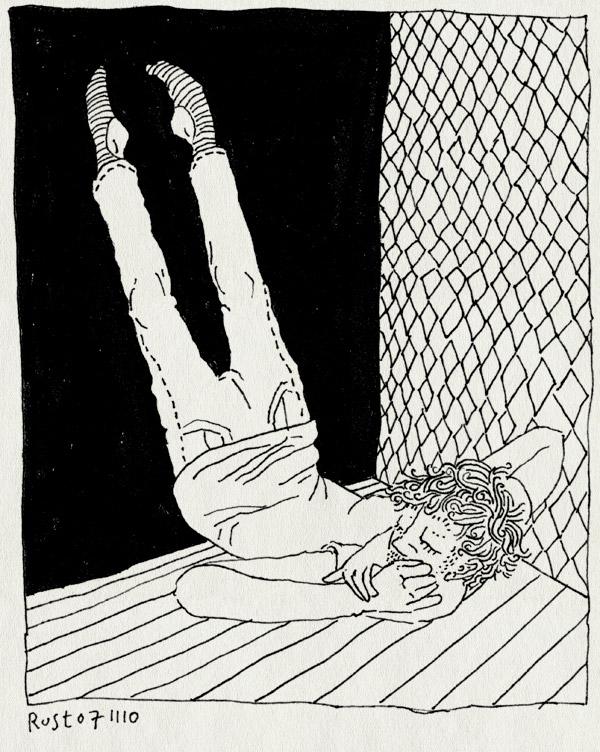 tekening 1270, comfort, comfortabel, moe, overal, slapen, sleep, sleepy