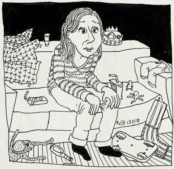 tekening 1276, afgelopen, aftermatch, bank, daas, heftig, kinderverjaardag, martine, speelgoed, troep, verjaardag