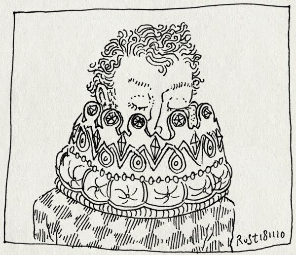 tekening 1281, groot, grootst, groter, kroon, recensiekoning, vergadering