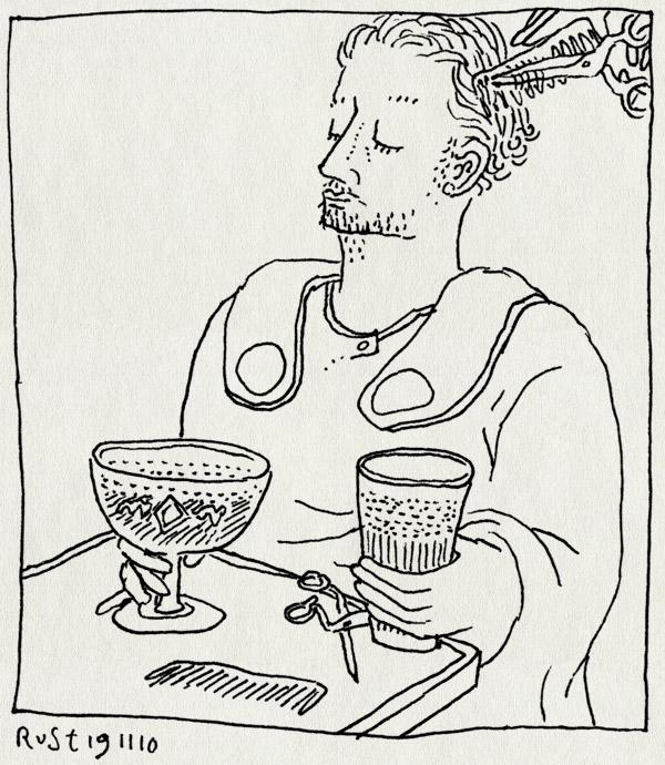tekening 1282, bier, kapper, kapsalon