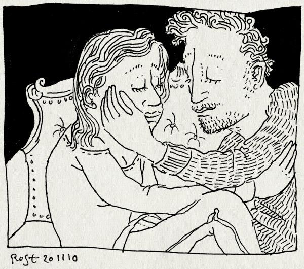 tekening 1283, bank, lief, martine, ruben
