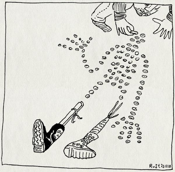 tekening 1286, laars, nacht, pepernoten, precieziestrooien, schoen, sinterklaas, zetten