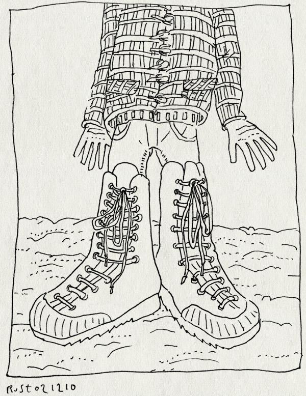 tekening 1294, groot, kick, schoenen, sneeuw, sneeuwschoenen, sorel, veters