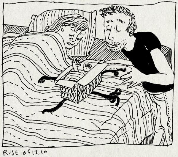 tekening 1298, bed, cadeautje, eveline, geboren, hoera, kim, mila, natha, nichtje, sinterklaas