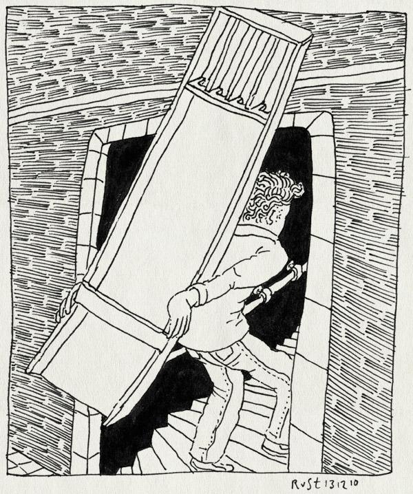 tekening 1305, amsterdam, eigenlijk had marcel dit gedaan, gaaf, gevel, maasstraat, sinterklaascadeau, sjoelbak, sjoelen, staircase, trap