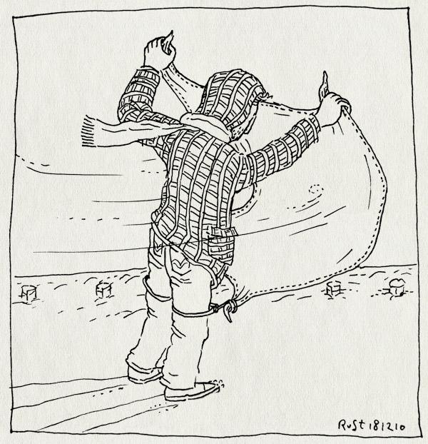 tekening 1310, glas, glijden, icesurfing, ijssurfen, knutselen, laken, surfen, weg, wind