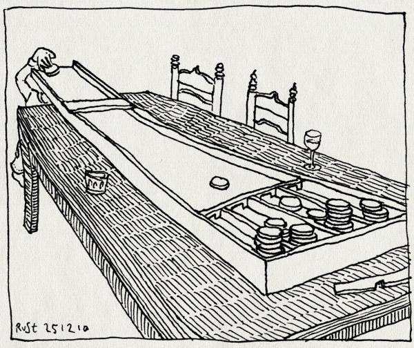tekening 1317, klein, midas, sjoelbak, sjoelen