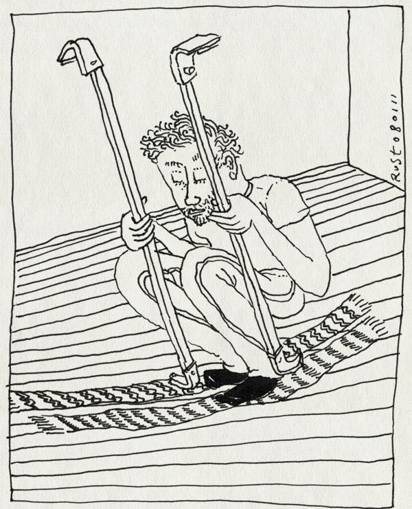 tekening 1331, arjen, dakdrager, imperiaal, imperial, marktplaats, preparation, sjaal, ski, skien, vakantie, voorbereiding, wintersport