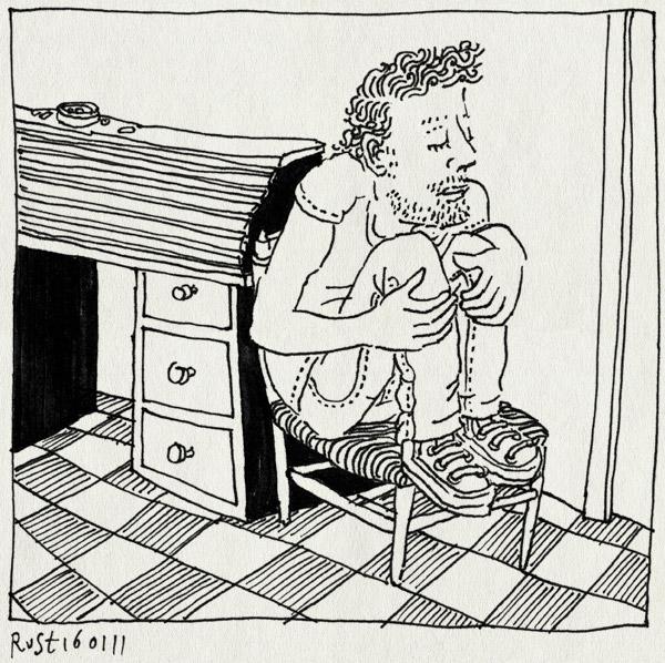 tekening 1339, alwine, midas, rolbureau, stoeltje, stout, zitten