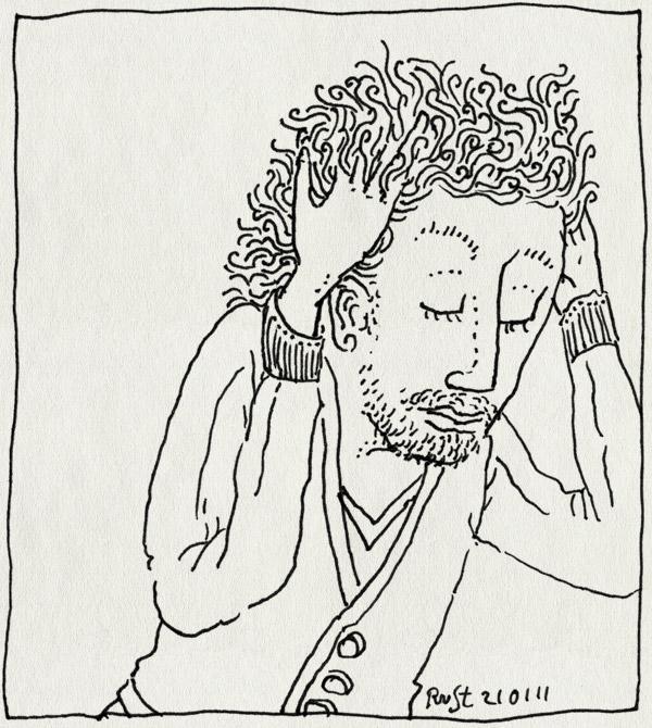 tekening 1344, haar, kapper, nodig, veel