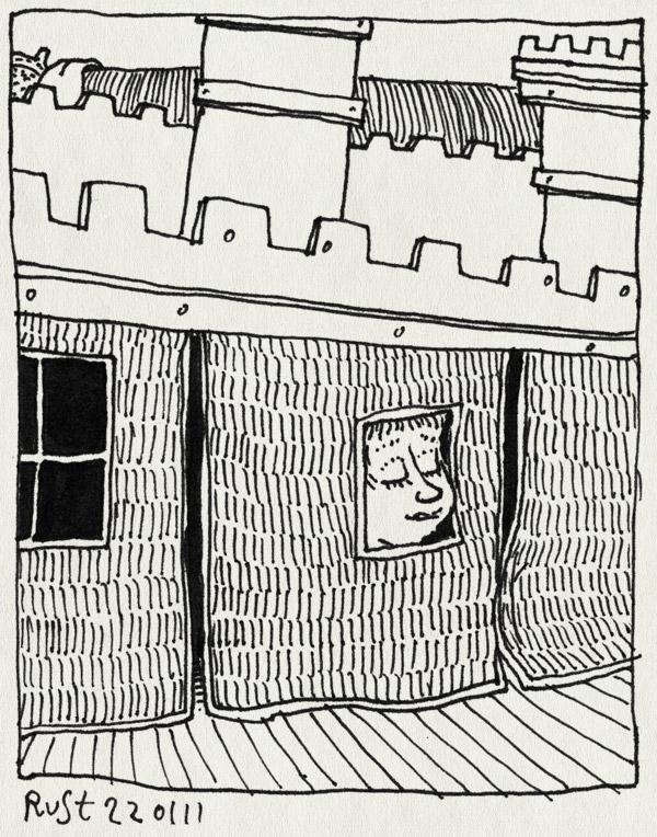 tekening 1345, halfhoogslaper, kasteel, midas, nieuw bed
