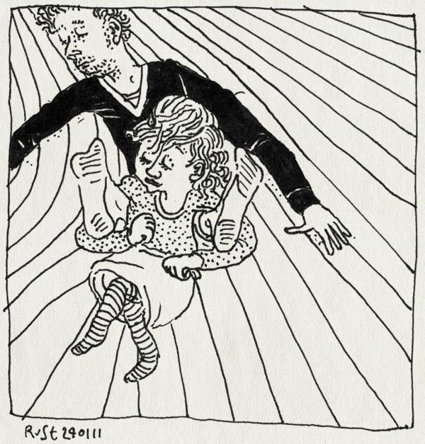 tekening 1347, alwine, kamer, papa, slepen, spelen, voorttrekken