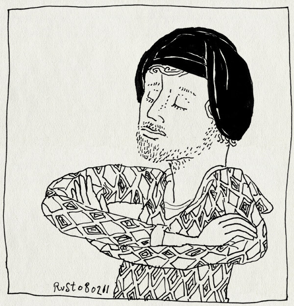 tekening 1362, hoofddoek, sjeik el rust