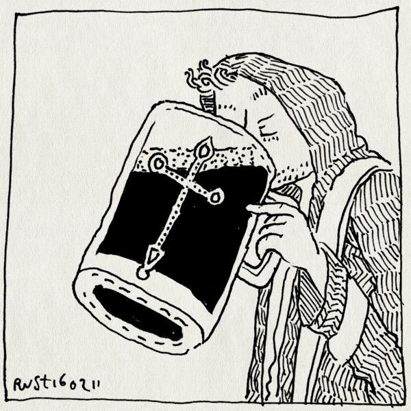 tekening 1370, bier, evan, frienden, habijt, jopen, jopenkerk, jurgen, kerk, mattijs